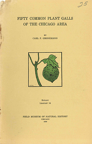 Fifty Common Plant Galls of the Chicago Area Cover Gronneman 1930
